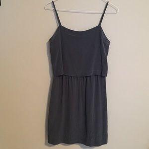 Madewell Silk Overlay Cami Mini Dress